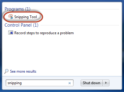 Taking a Screenshot with the Snipping Tool - Next Century