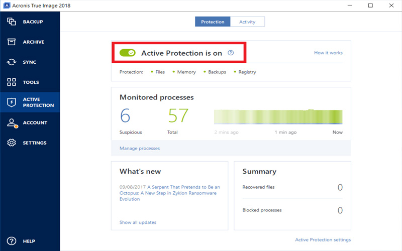 How To Disable Acronis True Image 2018 Active Protection